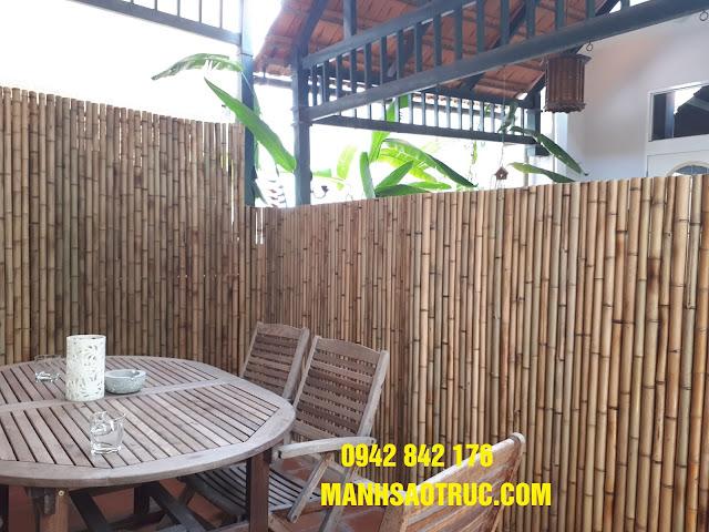 ốp trúc trang trí hàng rào