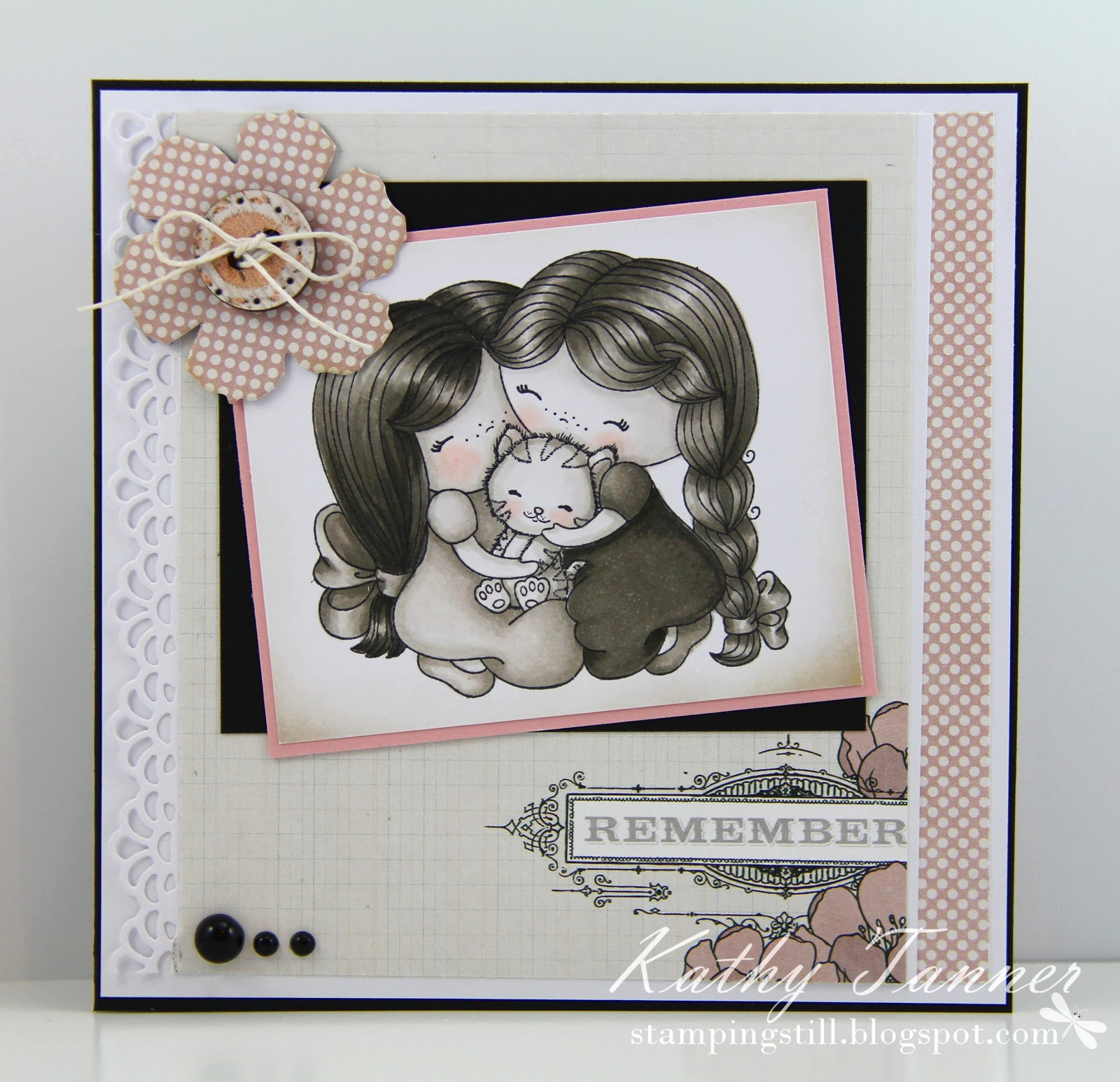 Izzy's Friends, Candibean, warm grey copic, tattered florals, summer stories