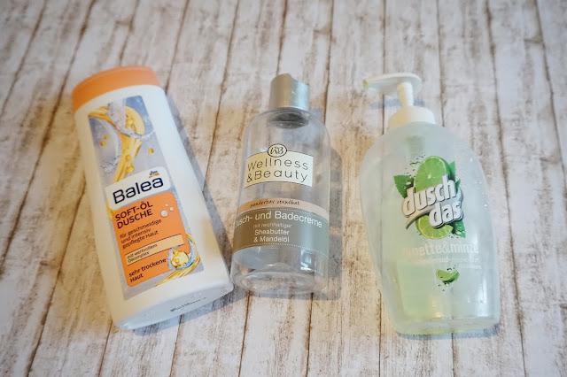 Balea - Soft-Öl Dusche    Wellness & Beauty - Dusch- und Badecreme Sheabutter & Mandelöl    dusch das - Handseife Limette &Minze