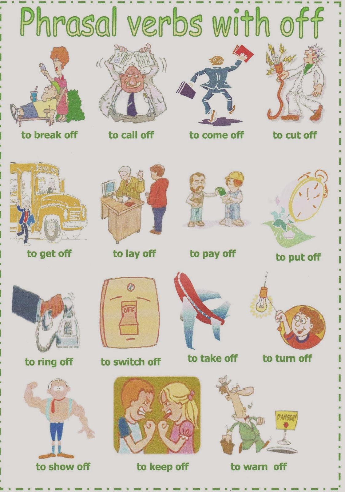Advanced English 2 Phrasal Verbs With Out And Off