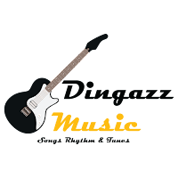 blog logo, website logo, dingazz music, band logo,