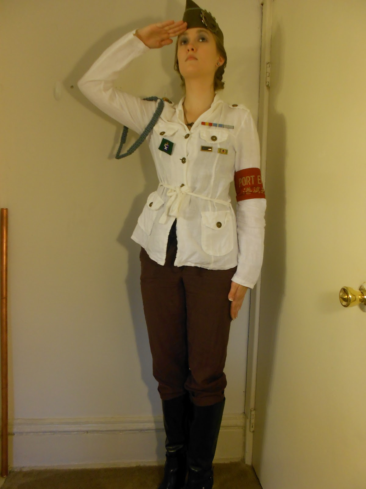 unlacing the victorians military steampunk outfit