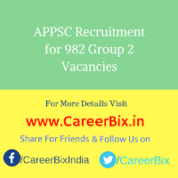 APPSC Recruitment for 982 Group 2 Vacancies