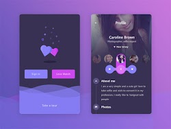 Profile UI Design Inspiration with Sign in
