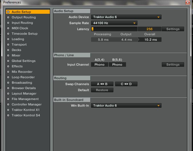 Traktor Scratch Pro 2 - Single Timecode - Two Decks Set Up