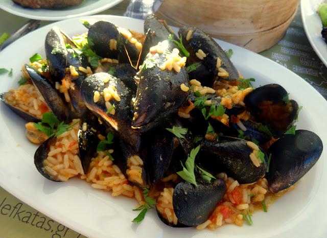 Mussels rice Lefkatas Athani