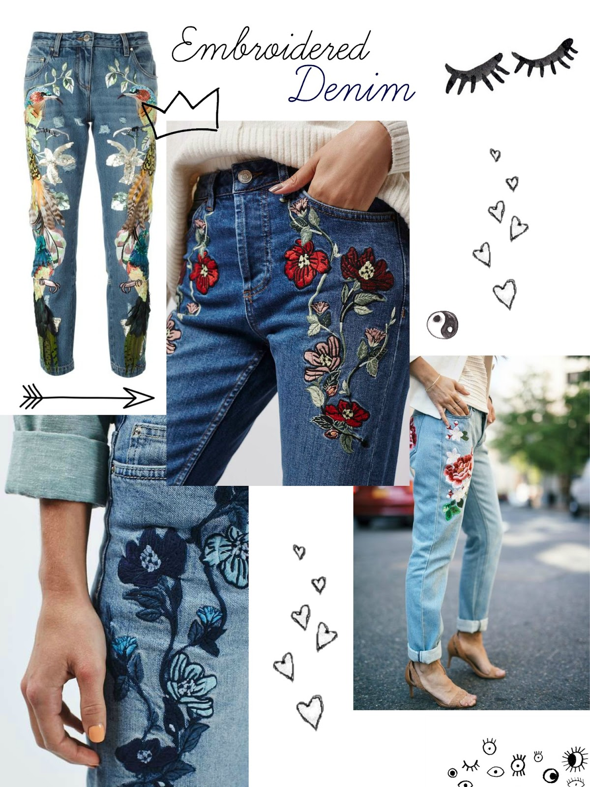 Embroidered Denim Trend