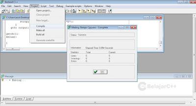 Mnerjemahkan program - Pengertian dan Dasar-Dasar Penggunaan Borland C++ - belajar c++