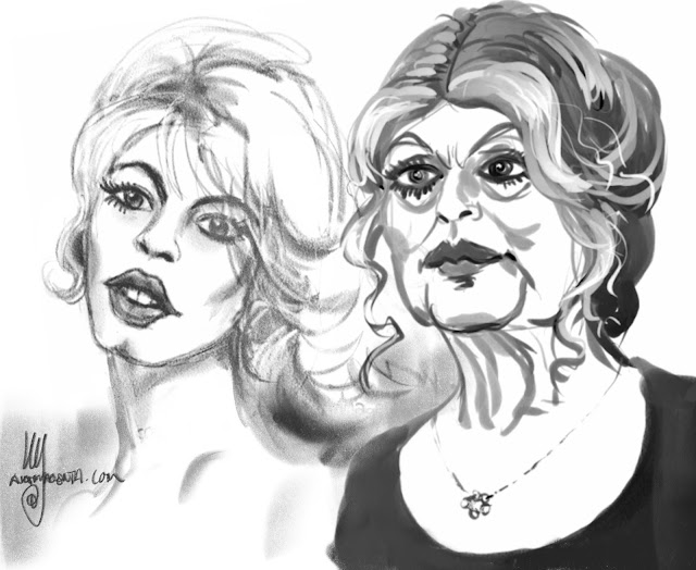 Brigitte Bardot caricature by Ulf Artmagenta
