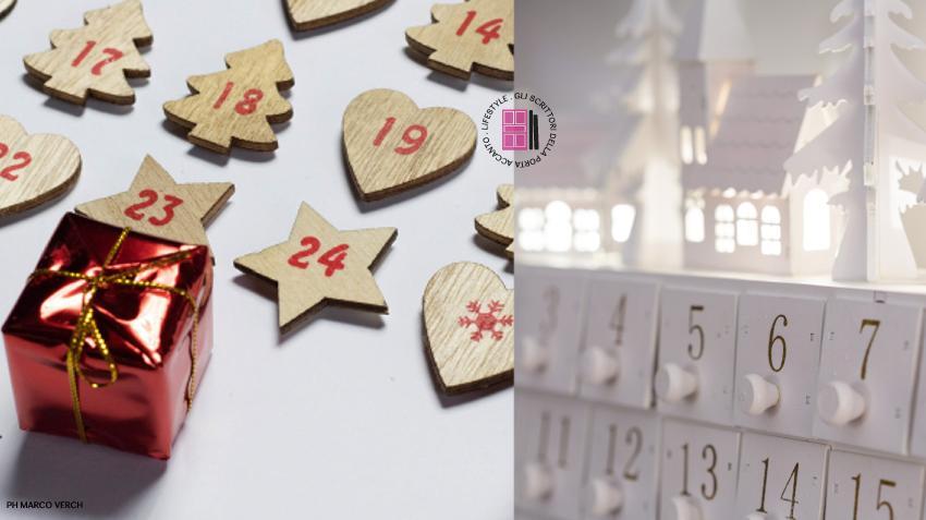 Calendario avvento: formine di legno (PH Marco Verch) e cassettiera bianca di legno