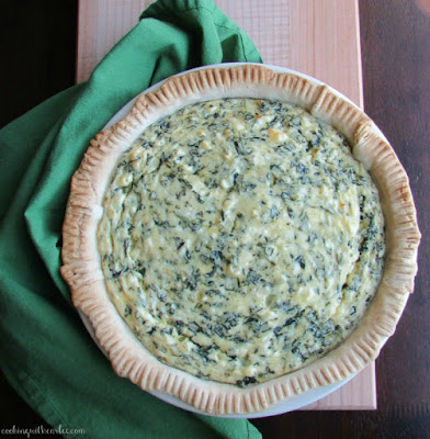 whole feta and spinach pie