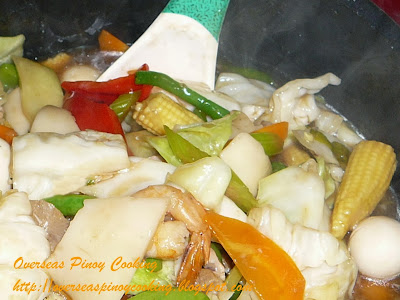 Pinoy Buko Chopsuey - Cooking Procedure