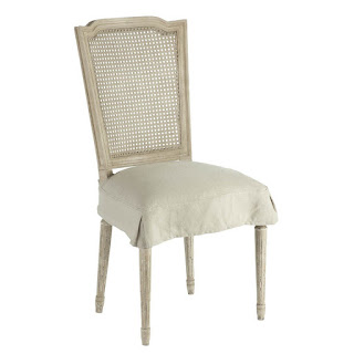 Aidan Gray Ethan Dining Chair with Slipcover