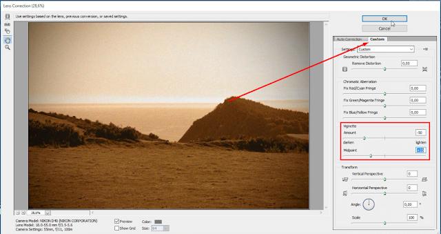 Edit Foto effect Sepia
