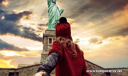 viajando por el mundo de la mano de su novia