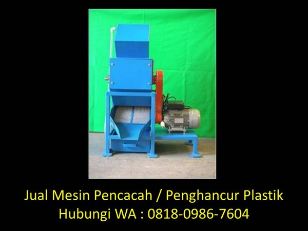 mesin pencacah plastik kapasitas kecil di bandung