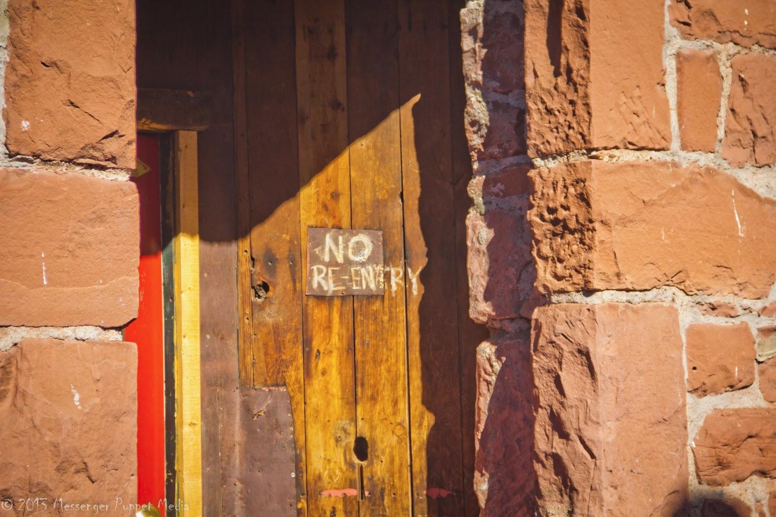 alley door no reentry