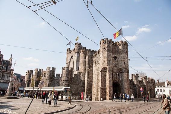 Castillo de Gante en Belgica