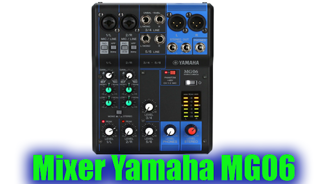 Mixer Yamaha MG06