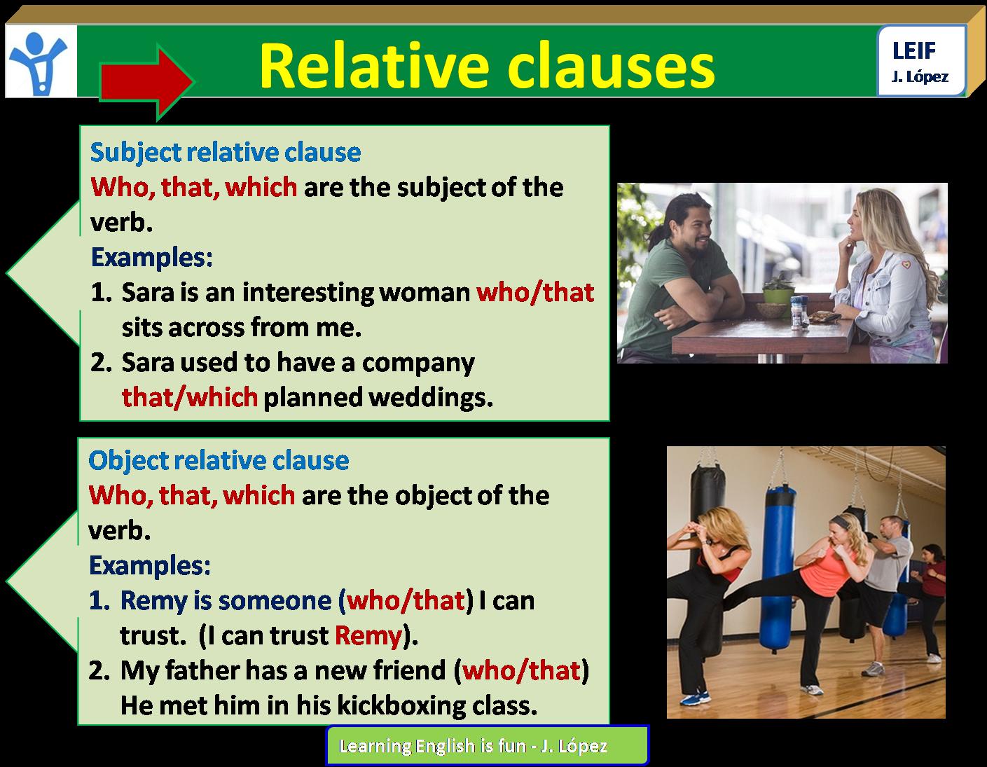 English Intermediate I U7 Relative Clauses