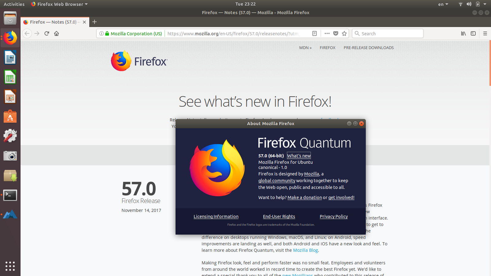 How to install program on Ubuntu: Firefox 57 Released! How