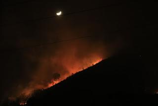 Incendio en las inmediaciones de Santa Águeda