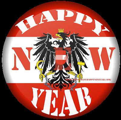 Happy New Year 2017 Austria Flag