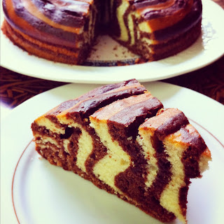 Crouching Tiger Hidden Zebra Cake Recipe