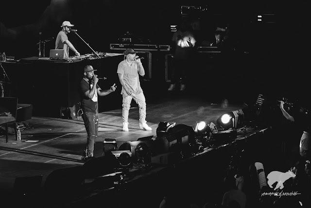 Nas performing live at COTA.