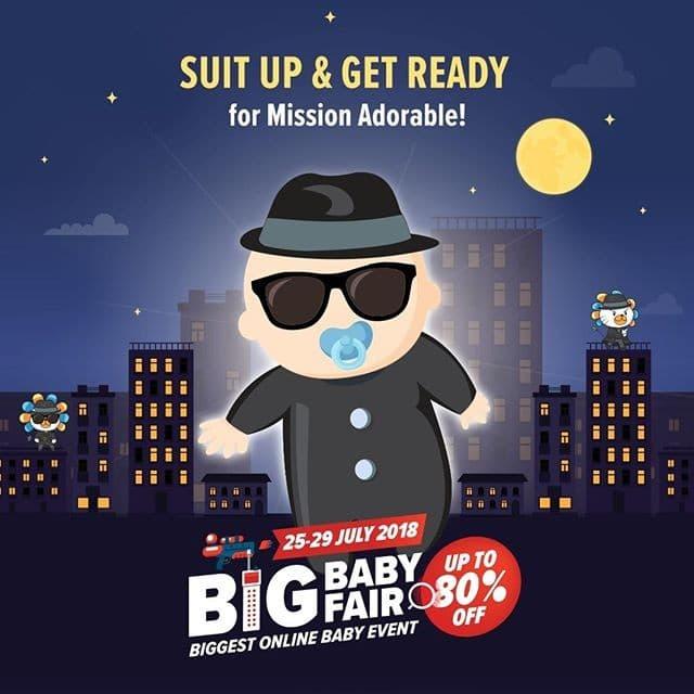 Lazada Big Baby Fair July 2018 anda berpeluang menang  voucher RM1000