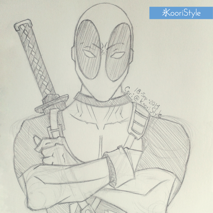 Koori Style KooriStyle Drawing Doodle Skecth Anime Comic Deadpool