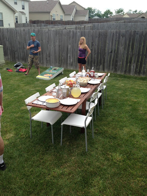 That Winsome Girl: Kicking Off Summer with a Birthday Cookout