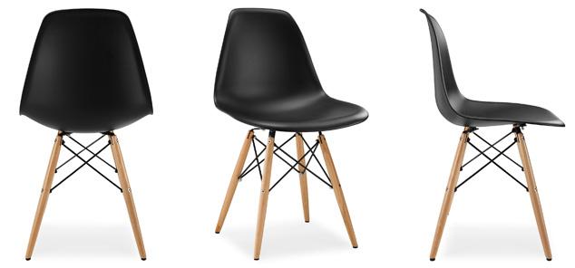 eames%2Bdsw%2Bblack - Cinco modelos de sillas de diseño que deberías conocer