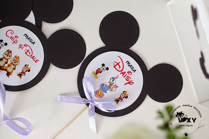 Mickey Mouse, Minnie Mouse, Goofy, Donald, petreceri tematice, petreceri botez, numere masa Mickey, numere masa Minnie, vixy.ro, tema Mickey Mouse si Minnie Mouse
