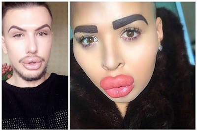 The two men who've spent almost £200k to look like Kim K blast each other on Facebook (photos)