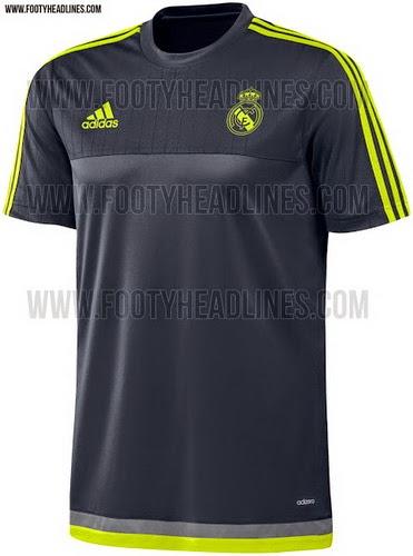 dcd732142ddfe El segundo Real Madrid 2015-16 Camiseta Adidas Training viene con el blanco  como color principal