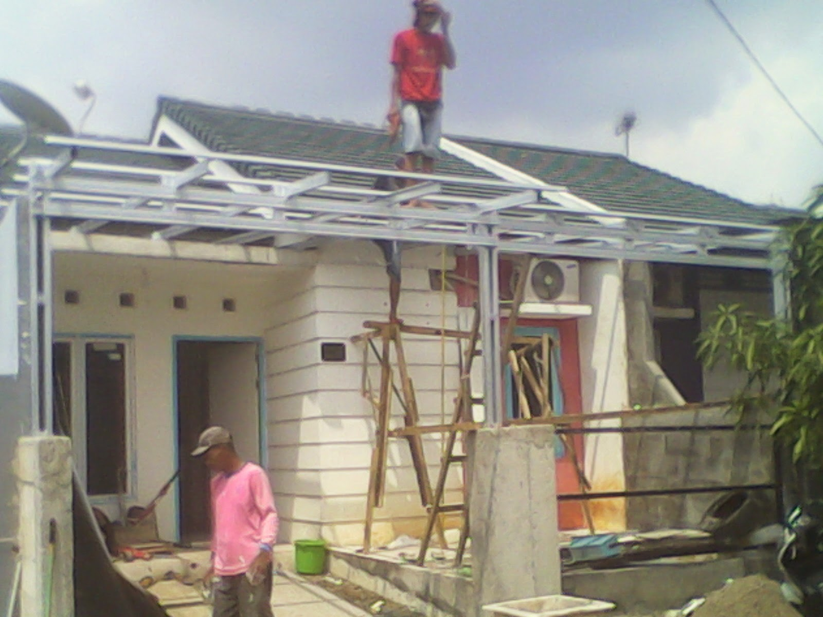 harga kanopi baja ringan karawang genteng metal dan ringan: rangka atap ...