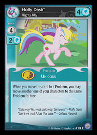 MLP Holly Dash, Flighty Filly Premiere CCG Card