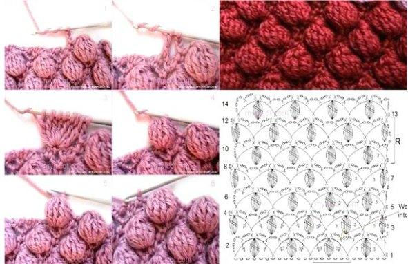 Punto palomita de crochet tutoriales originales