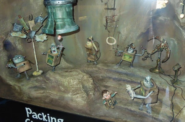 Boxtrolls Underground cave stop-motion figures
