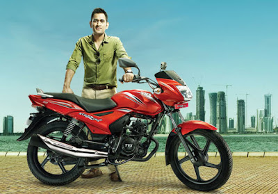 TVS Star City Plus with mahendra sinh dhoni
