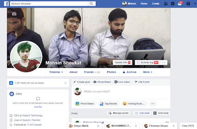 mohsin shoukat facebook account