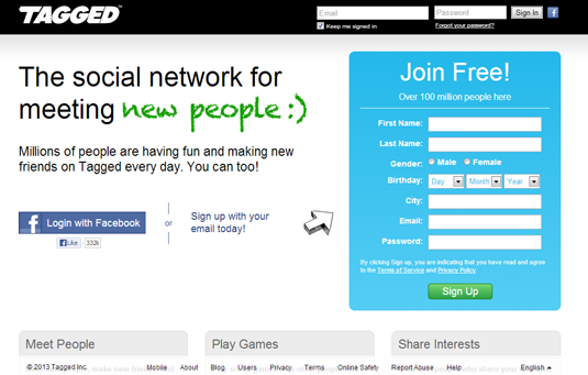 social networking site tagged