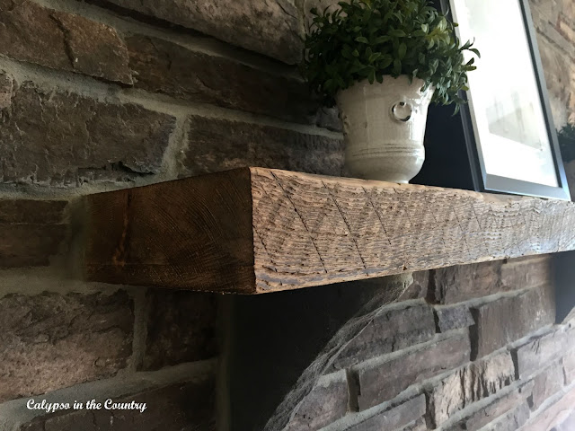 Favorites of 2015 - Rustic Stone Mantel