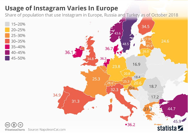 germany instagram usage population