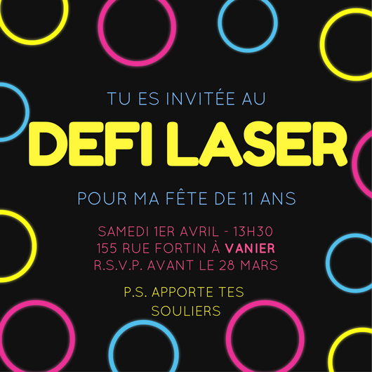 Laser tag party invitation for girls nelidesign laser tag party invitation birthday easy homemade diy stopboris Image collections