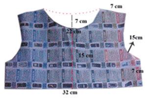 Pola atasan depan baju anak