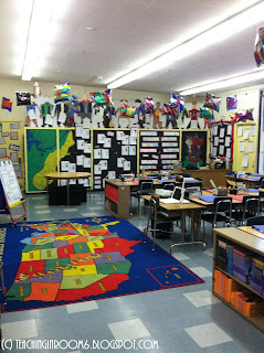 teachinginroom6.blogspot.com,  5th grade room tour