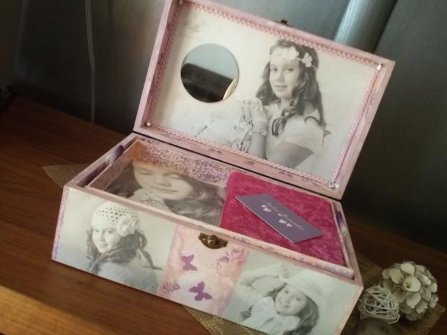 regalo de comunion, joyero personalizado con fotos