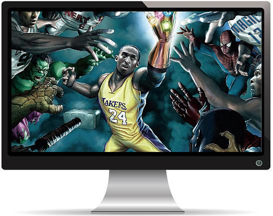 Kobe Bryant NBA Gant de l'Infini - Fond d'écran en Full HD
